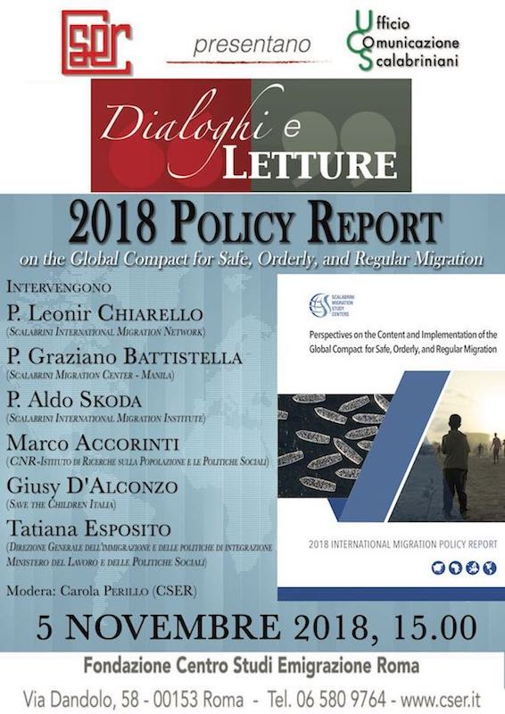 Dialoghi e Letture sull'International Migration Policy Report degli Scalabrini Centers